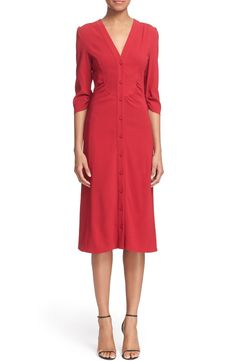Altuzarra 'Aimee' V-Neck Cady Shirtdress available at #Nordstrom