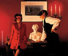 Jack Vettriano The Sparrow and the Hawk painting in my site, painting - $3,000.00 Authorized official website