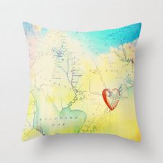 Ocean City New Jersey Throw Pillow Nautical Decor Beach House NJ Map Pillow