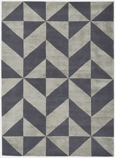Deirdre Dyson OPTIC hand knotted wool & silk rug.