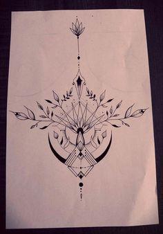 For he back, - Moyiki Sites Tattoo Drawings, Body Art Tattoos, Cool Tattoos, Maori Tattoos, Tatoos, Piercings, Piercing Tattoo, Underboob Tattoo, Sternum Tattoo Design