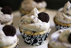 Oreo Cookies and Cream Cupcakes - Recipe Included; my family loves Oreos so I'm sure they will love this!