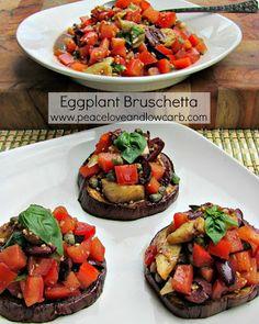 Eggplant Bruschetta – Low Carb, Paleo, Gluten Free