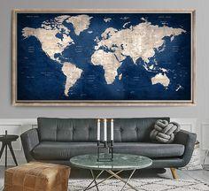 Trendy Design Office Wall World Maps World Map Sticker, World Map Decor, Kids World Map, World Map Wallpaper, Wall Art Wallpaper, World Map Wall Art, World Map Poster, Art Globe, Large World Map Canvas