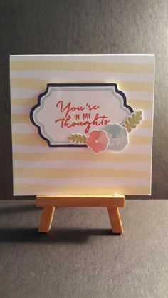 You're In My Thoughts www.etsy.com/shop/jengirlsdesigns #etsy #jengirlsdesigns #handmade #card #handmadecard #etsyshop #etsystore #etsyseller #etsysellers #etsyusa #etsyfinds #greetingcards #papercrafts #papercrafting #cardmaking #youreinmythoughts #thoughts