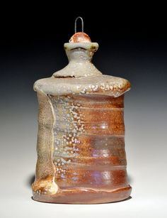 Soda Fired Bottle/Flask with Ceramic Stopper by RoudebushPottery, Nick Roudebush