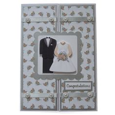 Free P Handmade Wedding Day Card £3.50 by Helle Belles Cards