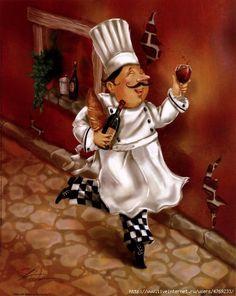 Схема вышивки «веселый повар» - Схемы вышивки - ГалинаGa - Авторы - Портал «Вышивка крестом»