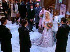 Day 20. Favorite Wedding: Phoebe's. I loved Monica and Chandler's and we'd been waiting on it, but Phoebe's was sooo pretty. I love how it was in the snow and had lights. It was so unique- just like Phoebe.