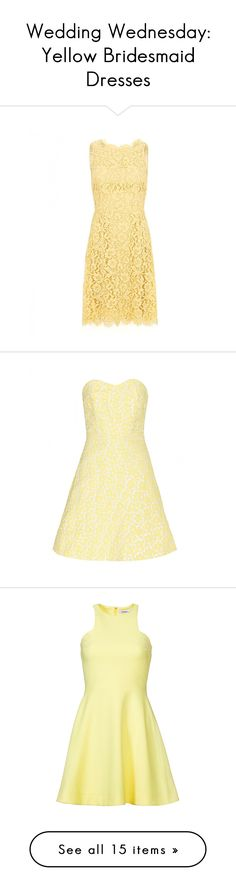 """""""Wedding Wednesday: Yellow Bridesmaid Dresses"""" by polyvore-editorial ❤ liked on Polyvore"""