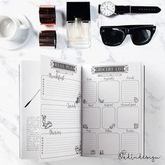 Meal Plan & Grocery List PRINTABLE / Meal Planning / Menu Plan / Shopping List / Bullet Journal Insert