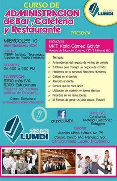 Grupo Lumdi: Curso de Administración de Bar, Cafetería y Restaurante. Entérate de los detalles.