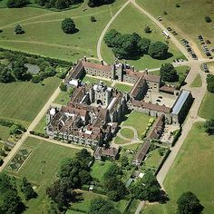 Knole, Sevenoaks, Kent, inspiration for Halstead Hall. Notice all the courtyards.