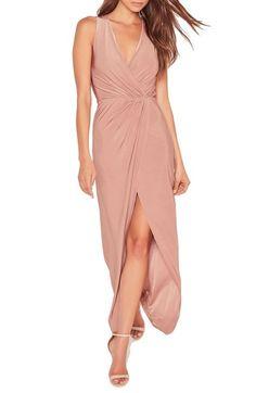 Main Image - Missguided Surplice Split Hem Maxi Dress