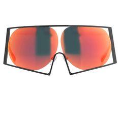 3e17b1c472d Todd Lynn metal wire frame mirrored sun glasses by Linda Farrow Sunglasses  2016