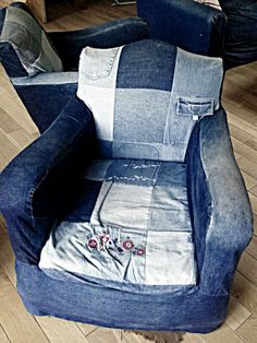 1930's chairs with upcycled slipcovers