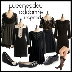 Wednesday Addams could have been a hairdresser.  She definitely had the black and white wardrobe down.
