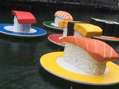 Giant Sushi River Conveyor? What's going on here? We love it!