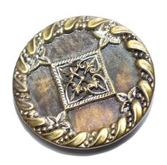 Button / Metal  /  Large by KPHoppe on Etsy