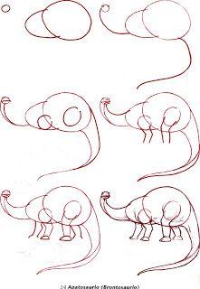 colecciones: Como dibujar dinosaurios
