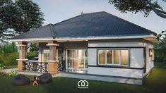 10 Contemporary House Designs With Floor Plan Perfect for Modern Family Bungalow House Plans, Bungalow House Design, Modern Bungalow, Modern House Plans, Bungalow Homes, 3 Storey House Design, Small House Design, Modern House Design, Online Architecture