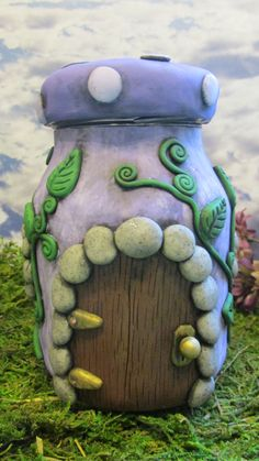 Magical Fairy House Jar by dragonsdreamsdesigns on Etsy