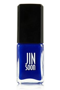"""The Best Nail Polishes R29ers Swear By #refinery29Jin Soon in Blue Iris  """"Inspired by a flower garden, this is the most vivid blue with such rich depth that you'll find yourself staring at your nails for hours. It's a must for pedicures in sandal weather and for fingers any time of the year."""" - Kristin Booker, beauty writer Jin Soon Blue Iris, $18, available at Net-A-Porter."""
