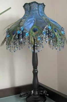 Peacock Feather Lamp