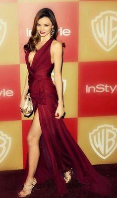 dress burgundy miranda kerr long red dress gold raspberry color