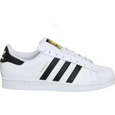 ADIDAS Superstar 1 trainers (£65) ❤ liked on Polyvore featuring men's fashion, men's shoes, men's sneakers and white black foundat