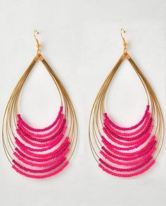 Zuri Fuchsia Beaded Earrings