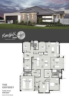 20 Modern Contemporary House Design with Floor Plan Modern Contemporary House Design with Floor Plan. 20 Modern Contemporary House Design with Floor Plan. House Layout Plans, Family House Plans, Luxury House Plans, Dream House Plans, House Layouts, Single Storey House Plans, One Storey House, 4 Bedroom House Designs, 4 Bedroom House Plans