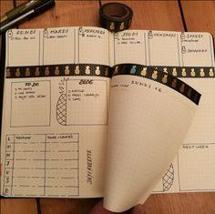Nouvelle présentation pour mes weekly log et daily log avec une Dutch door horizontale ! #Bullet journal #Bujo #Bujoaddict #Bulletjournaling #Weeklyspread #Planmenu #creabujo