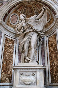 Statue of St. Veronica (who wiped the face of Jesus on the road to Calvary) St Peter's Basilica, Vatican City, Italy