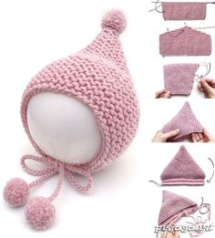 Knitted Dolls Crochet Dolls Knitted Hats Crochet Hats Knit Crochet Baby Hats Knitting Knitting For Kids Loom Knitting Kids Hats Baby Knitting Patterns, Baby Clothes Patterns, Baby Hats Knitting, Crochet Baby Clothes, Knitting For Kids, Loom Knitting, Knitting Needles, Crochet Patterns, Free Knitting