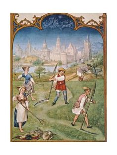 Giclee Print: The Month of June, Miniature from the Grimani Breviary Manuscript, Italy 15th Century : 24x18in