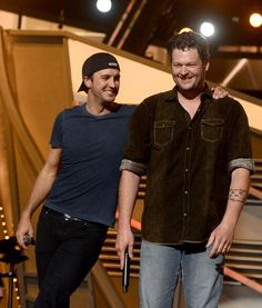 Luke and Blake during the ACM Awards rehearsals