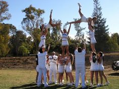 Pyramid.... we were gonna try this at practice this summer... but its illegal for middle school