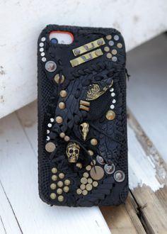 Punk iPhone 5s Case Leder Skull: LOKADEREMACHE