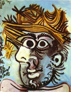 Pablo Picasso - Portrait of Man in a Hat (1971)