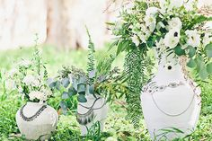 Floral and Eucalyptus Aisle Decor | Amazonas Photography | Bohemian Forest Wedding