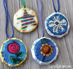 How to make pretty pendants from recycled cardboard!