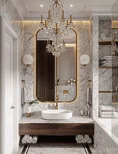 Bathrooms win with a luxurious lighting fixture. Discover the perfect lighting for your luxury bathroom at luxxu.net #bathroom #interiordesign #luxury #luxuryhomes #bathroomideas #lighting