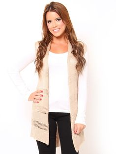 Knit Cardigan vest