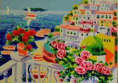 Catawiki, pagina di aste on line  Athos Faccincani - Luce e profumo di rose intorno a Positano