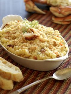 Crab and Macaroni Bake, plus other twists on the mac and cheese theme.  YUM