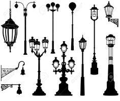26494771-Street-lamp-set--Stock-Vector-lamp-post.jpg (1300×1099)