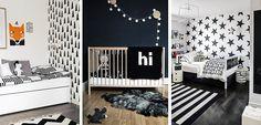 Habitaciones infantiles decoradas en blanco y negro - http://www.decoora.com/habitaciones-infantiles-decoradas-en-blanco-y-negro.html