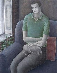 Addinall, Ruth  : Young Man with Cat, 2008 (...
