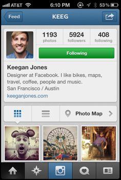 Instagram, Profiles